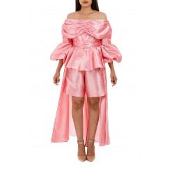 Pink bella short jumpsuit