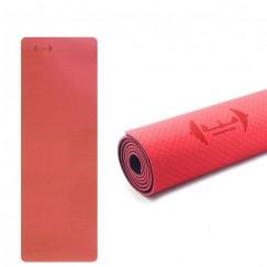 180 cm Yoga Mat - Black & Pink
