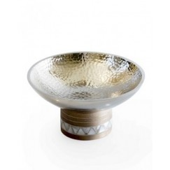 Almn-Bowl with Base-Small-16x16x10cm