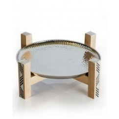 Almn & Plate on Stand Small