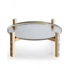 Almn & Plate on Stand Large