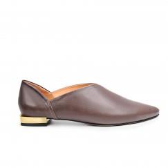 Jood II Brown Leather Slippers