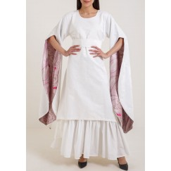 Indian cut 2 open sleeves kaftan