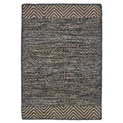 House Doctor Rug, Pattern, Black & Natural,85x130 cm