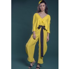 Jumpsuit with Cape yellow