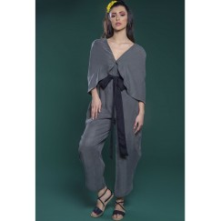 Jumpsuit with Cape Grey