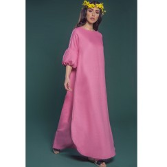 Pleated Cuff Kaftan Pink