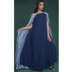 Cape Sleeves Kaftan Nave Blue