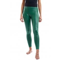 Green metalic leggings