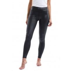 Black metalic leggings