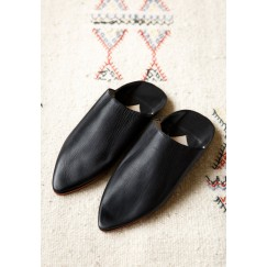 Fatma leather babouche