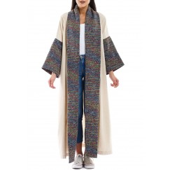 Hala shawl collar bisht