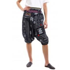 Black Printed Embroidered Shorts Sherwal