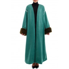 Green fur bisht