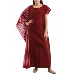 Semi-Squared Kaftan Red