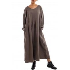 Flowy long dress brown