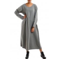 The grey long dress