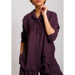 The trendy tie-cut top purple
