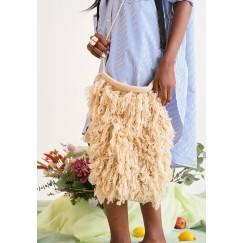 Wool Exterior Fringe Bag