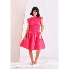 Fuchsia Elastic Waist Dress