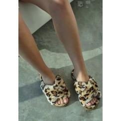 Leopard Fur Slipper