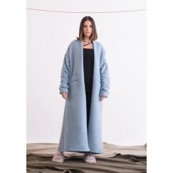 Blue Maxi Coat