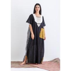 Black Embroidery Kaftan - RSC_21/02