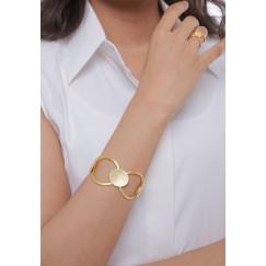 Oval Links Set Of A Bracelet & Ring