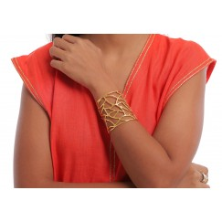 Gold Plated Cracked Handcuff