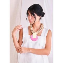 Katerina Vassou Pink Chunky Necklace