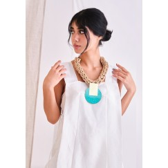 Katerina Vassou Turquoise Chunky Necklace