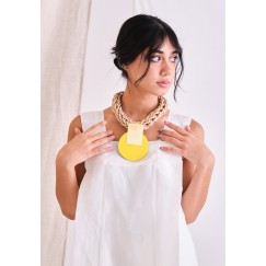 Katerina Vassou Yellow Chunky Necklace