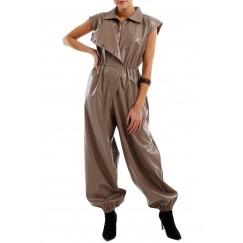 Leather jumpsuit
