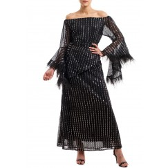 Black Shiny Paloma Dress