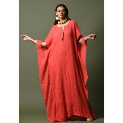 Red Cut-Out Sleeves Kaftan