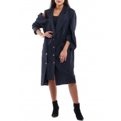 One sleeve cut blazer coat