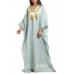 Light Green Ruffled Kaftan
