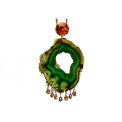 Dark Green Agate Necklace