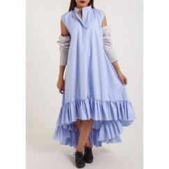 Deconstructed Pijama Sleeve Blue