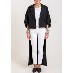 Black Trench Blazer