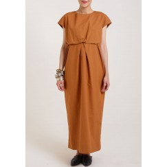 Terracotta Puffed Dress