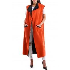 Plain long vest