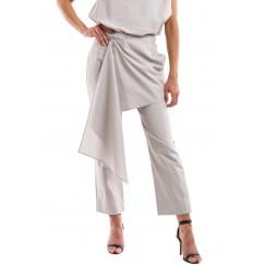 Grey Poplin Cotton Pants