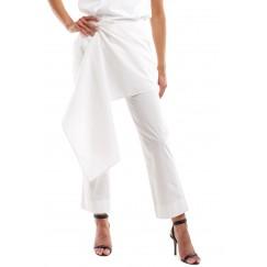 White Poplin Cotton Pants