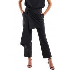 Black Poplin Cotton Pants