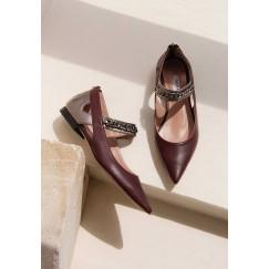 Leem Bordeaux Pointed Toe Shoes