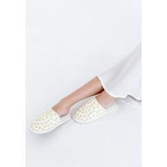 Nejm ElLeil White & Gold Home Slippers