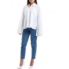 White Extra Long Sleeves Kaftan