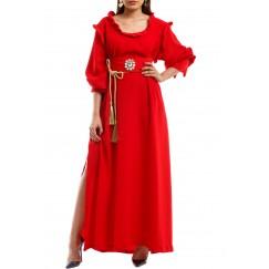 Elegant lady red crepe