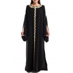 Black cape kaftan